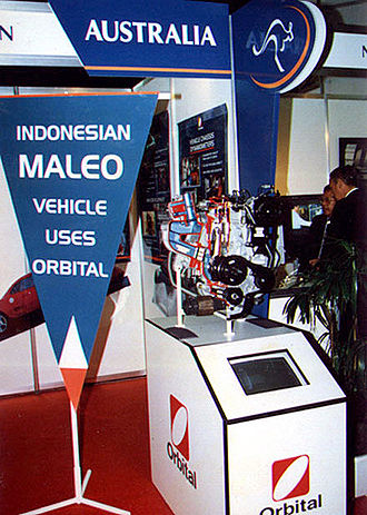 Sarich orbital engine - Engine incorporating OCP (Orbital Combustion Process), on display in Jakarta