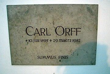 Orff burial inscription Andechs