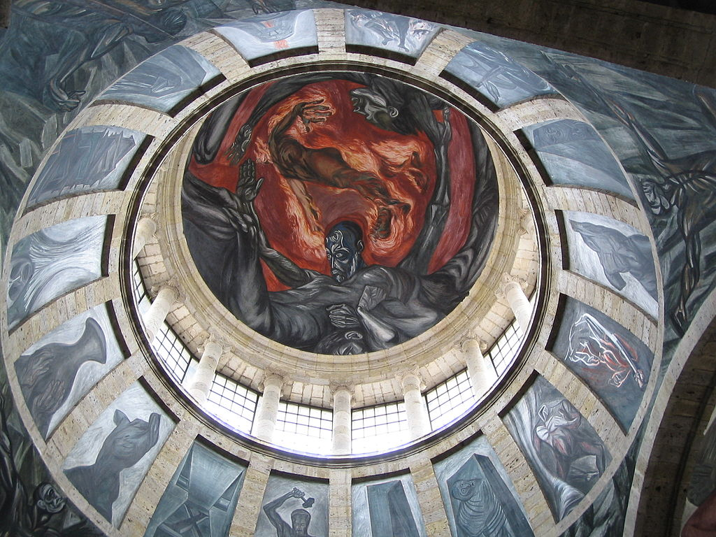 File orozco hombre de fuego gdl jpg wikimedia commons for Aviso de ocasion mural guadalajara