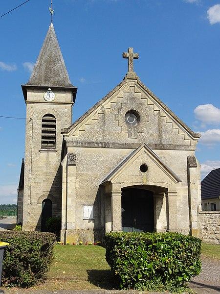 Osly-Courtil (Aisne) église Saint-Martin