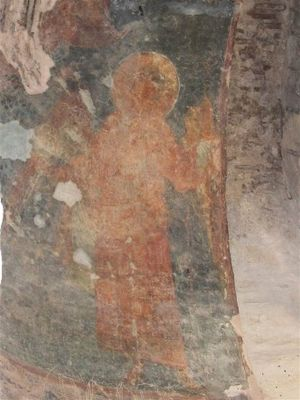 Oster - Ancient fresco in the Saint Michael's Church (a.k.a. Yurii's Temple) dating back to the turn of the 12th century.