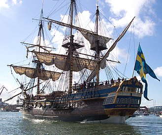 East Indiaman - The full-scale sailing replica of the Swedish East Indiaman Götheborg in 2005