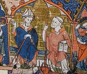 Oswald of Worcester - Image: Oswald and Eadnoth