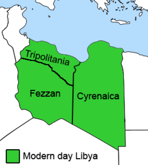 Subdivisions of Libya - The 3 main historical subdivisions of Libya