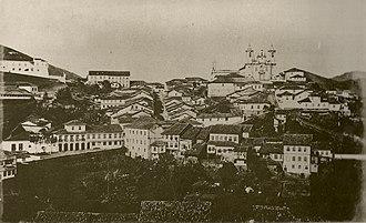 Politics of the Empire of Brazil - Ouro Preto, capital of Minas Gerais province, 1881.