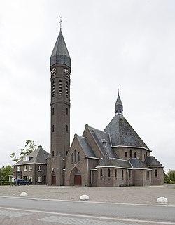 Overzicht van de noordoostgevel parochie en de kerk - Rietmolen - 20422814 - RCE.jpg