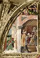 Ovetari, san cristorforo 01, Congedo di san Cristoforo dal re di Ansuino da Forlì (attr.).jpg