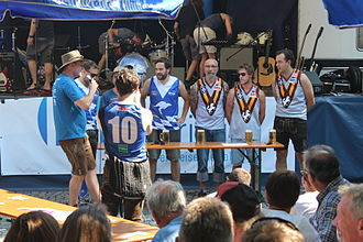 Boat race (game) - Boat race – Munich Kangaroos vs. Pasing Hawks at the OzFest 2015 Munich, Germany