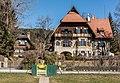 Pörtschach Winklern Hauptstraße 106 Villa Edelweiss und 108 Und-Häuschen 08032017 6470.jpg