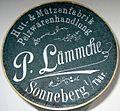 P. Lämmche, Hut- und Mützenfabrik, Pelzwarenhandlung, Sonneberg in Thüringen, Muffkarton.JPG