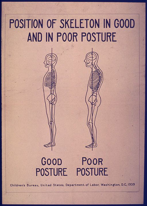 POSITION OF SKELETON IN GOOD AND POOR POSTURE - NARA - 515194