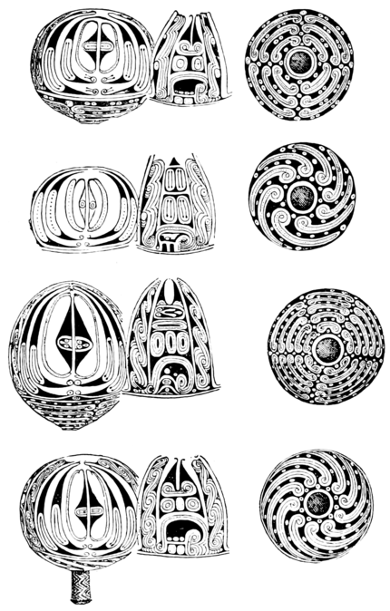 PSM V52 D037 Papuan designs burned on gourds.png
