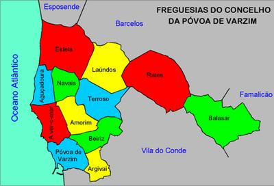 mapa de portugal povoa de varzim Geografia da Póvoa de Varzim – Wikipédia, a enciclopédia livre mapa de portugal povoa de varzim
