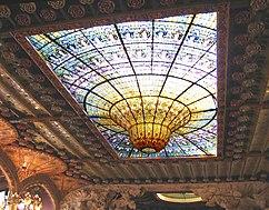 Vitral del techo del Palau de la Música Catalana