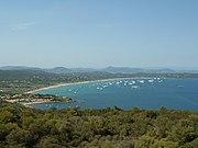 Les plages de Pampelonne et Bonne Terrasse vues depuis le phare de Cap Camarat