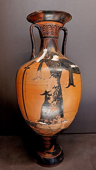 Benghazi - A panathenaic amphora found in Benghazi from the times of Euesperides, the ancient Greek city that is now Benghazi.