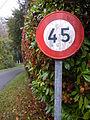 Panneau B14 (France) près de Grandjean (17, France) fabriqué en 1973.JPG
