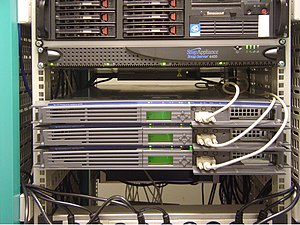 Web hosting service - An example of rack mounted servers