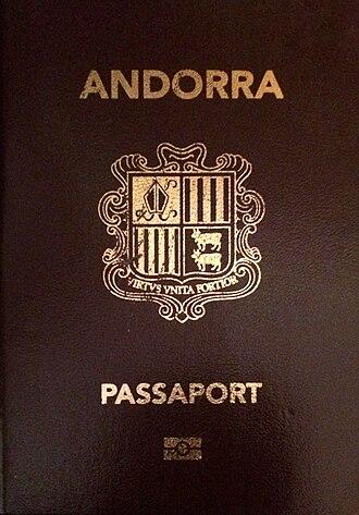 Andorran passport - Image: Passaport andorrà
