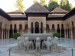 Patio de los Leones. Alhambra de Granada. Spain..JPG