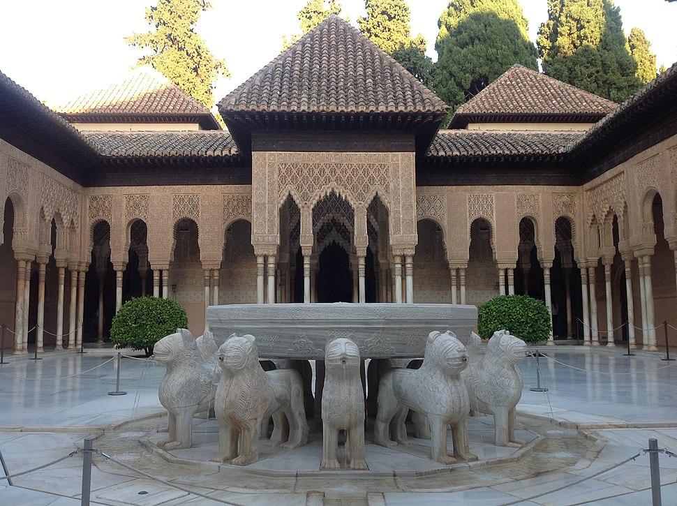 Patio de los Leones. Alhambra de Granada. Spain.