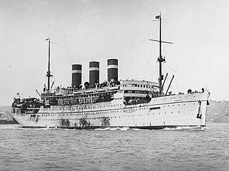 SS Patria (1913) - Image: Patria (ship, 1914) NH 42989 cropped