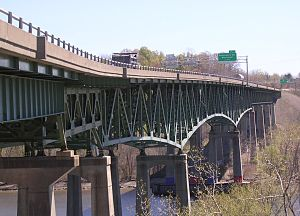 Patroon Island Bridge - Patroon Island Bridge. View shows various structural supports