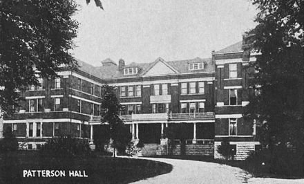 Patterson Hall, shortly after its 1904 opening Patterson Hall 1905.jpg