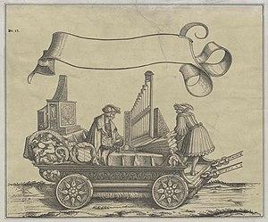 Paul Hofhaimer - Paul Hofhaimer on a wagon with positive organ