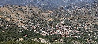 Pedoulas - Image: Pedoulas panorama