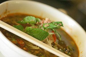 Peranakan cuisine - A bowl of Penang asam laksa