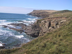 Pentire Head - View of Pentire Point taken from Polzeath