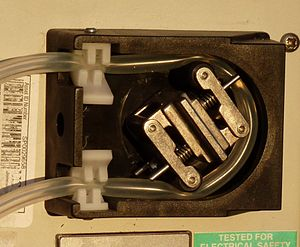 Peristaltic pump - Peristaltic tube pump with two sprung rollers
