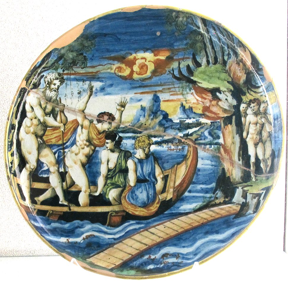 Pesaro, barca di caronte nell'acheronte, xvi sec