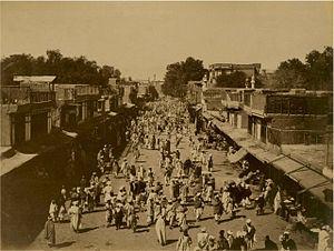 History of Peshawar - Peshawar City, Edwardes Gate, c. 1870