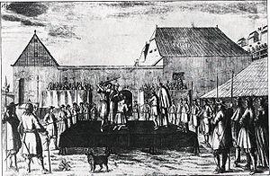 Petar Zrinski - Execution of Zrinski and Frankopan in Wiener Neustadt on 30 April 1671