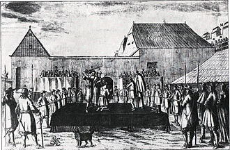 Petar Zrinski - Execution of Zrinski and Frankopan in Wiener Neustadt on 30 April 1671