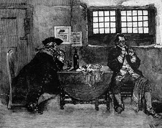 Henry Every - Avery sells his Jewels, an engraving by Howard Pyle which appeared in the September 1887 issue of Harper's Magazine