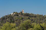 Philopappou Hill from Acropolis Athens, Greece.jpg
