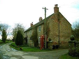 Willey, Shropshire - Image: Phone box and cottages at Willey geograph.org.uk 760069