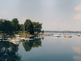 Pymatuning State Park (Pennsylvania) - Boats on Pymatuning Lake