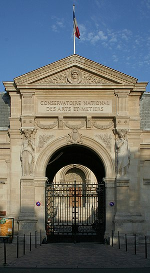 Conservatoire national des arts et métiers - The main entrance.