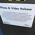 Photo and video consent disclaimer at Mini Maker Faire held in Tyler, Texas(US).jpg