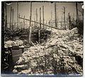 Photo lunaire. Poste de secours. Au fond à droite le sommet du Schratz - Fonds Berthelé - 49Fi1751.jpg