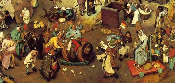 Pieter Bruegel the Elder- The Fight between Carnival and Lent detail 3