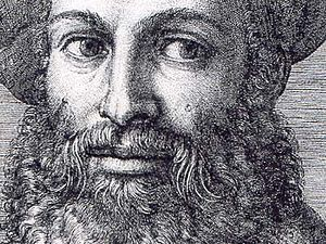 Line engraving - Detail of an engraving by Marcantonio