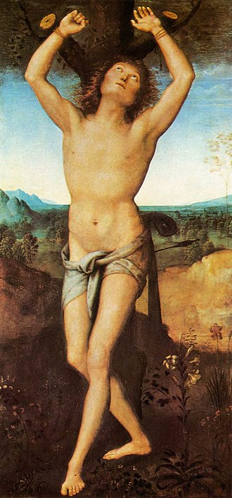 Nationalmuseum - Image: Pietro Perugino St Sebastian WGA17313