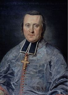 Painting of Pigneau de Behaine in priestly dress