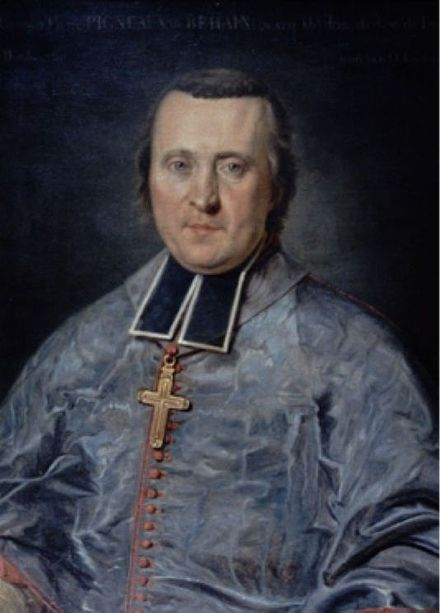Pigneau de Behaine, the French priest who recruited armies for Nguyen Anh during Anh's war against the Tay Son Pigneau de Behaine portrait.jpg