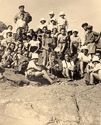 Beit Alfa - Children from Kibbutz Beit Alfa on Mount Gilboa, circa 1935